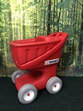 Vtg RARE Step 2 TARGET Store Promo Kids Child Red Grocery Shopping Cart Plastic