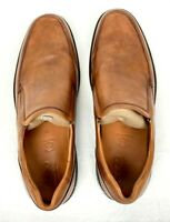 ECCO Men's Holton Apron Toe Slip On Loafer, Amber, 12-12.5 US