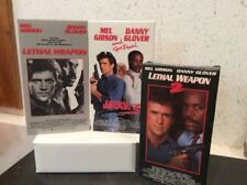 Lethal Weapon 1 2 3 VHS Copies Mel Gibson Danny Glover