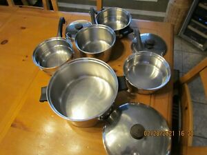 Saladmaster 8 Piece Pan Set - T304S  Stainless Steel