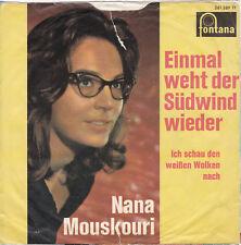 "7"" JUKE-BOX Single NANA MOUSKOURI / Einmal weht der Südwind wieder 1962"