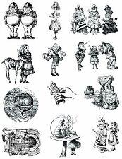 Alice in wonderland un mounted rubber stamp 1 Full sheet