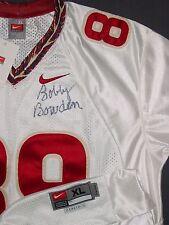 BOBBY BOWDEN signed FSU JERSEY COACH Florida State Seminoles **RARE** WHITE
