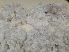 Eyelet Lace Strips -100% Cotton White, Shirred, Finished Edges, Raw Edges
