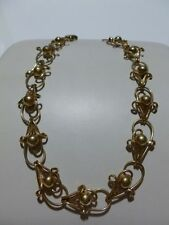 """RARE REGAL 1/20 12K GOLD FILLED WOMENS NECKLACE ORNATE 14.25"""" 25 GRAMS MINT"""