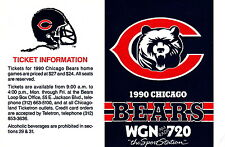 1990 CHICAGO BEARS FOOTBALL SCHEDULE - WGN 720