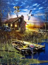 """My Favorite Place By Jim Hansel Duck Cabin  Print Image Size 12"""" x 16"""""""