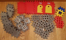 Huge Lot Vintage Little Tikes Waffle Blocks Castle Vintage Red Grey Yellow