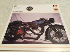 CArte moto FN 500 cm3 M15 1938 collection Atlas Motorcycle Belgique