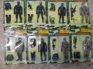 World Peacekeepers Power Team Elite 8 Figures New Old Stock 1:18 Scale