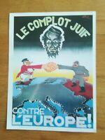 Réf 14 reproduction affiche propagande WW2 Complot