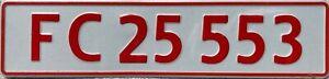 Denmark Bike Rack Trailer Danish Number Licence License Plate FC 25 553
