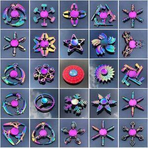 Fidget Spinner Rainbow Finger Hand Focus Spin EDC Bearing Stress Toys UK
