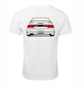 NISSAN SILVIA 180SX SR20 TYPE X T-SHIRT COTTON RACE CAR TURBO JDM DRIFT SHIRT