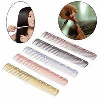 Men Women Aluminum Metal Cutting Comb Hair Hairdressing & Barbers Salon Combs