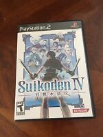 Suikoden IV Sony PlayStation 2 PS2 Complete Very Nice Disk Works As New PG1