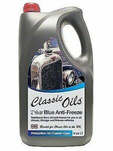 CLASSIC OILS 2 YEAR BLUE ANTIFREEZE, 5L, FOR CLASSIC, VINTAGE, VETERAN CARS