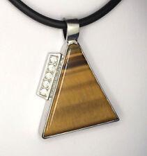 Tiger's eye pendant, Handmade Sterling silver Pendant