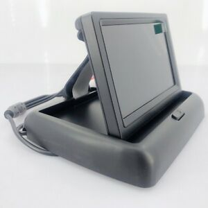 4.3 inch car Review Flip Down Foldable monitor for parking 2 video input 12V
