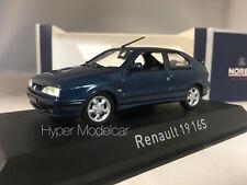 NOREV 1/43 RENAULT R19 16S 3-DOOR 1992 BLUE ART. 511907