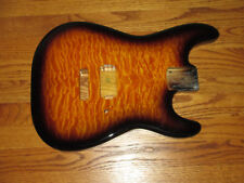 MIGHTY MITE BODY FITS FENDER STRATOCASTER 2 3/16th GUITAR NECK BURST QUILT TOP