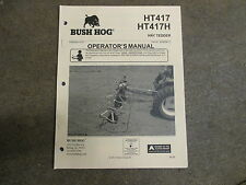 Bush hog HT417 HT 417 H rotary hay tedder owners & mantenance manual