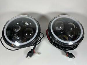 LED Headlights RGB for Jeep Wrangler EG-QPLMRGB01-BE
