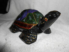 Novica Lacquered Wood Turtle Figurine Made in Thailand
