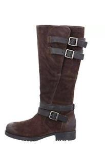 Clarks Ladies Adelia Dusk Brown Suede Long Boots Size UK 5 D EU 38