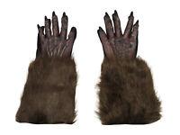 Werewolf Gloves Wolfman Hands Monster Animal Gorilla Hairy Costume Accessory