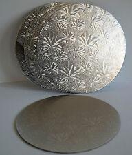 "Cake Board - Double Thick Board SQUARE & ROUND  Silver (3mm thick) 6"" 7"" 8"" 9"""