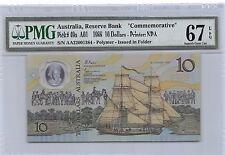 New listing Australia $10 26.1.1988 P 49a Series A01 Pmg 67 Epq Gem Uncirculated Banknote