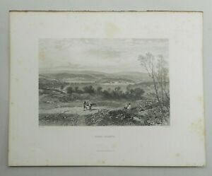 """Antique Australian Engraving """"GOAT ISLAND""""  by S Prout For  Edwin C Booth 1874"""