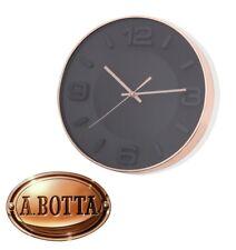 Orologio da Parete Brandani 54561 Oro Rosa e Sfondo Nero - Rose Gold Clock