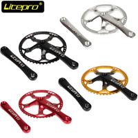 Litepro Ultralight Hollow 130BCD 42-58t Bike Crankset Chainring 170mm Crank Set