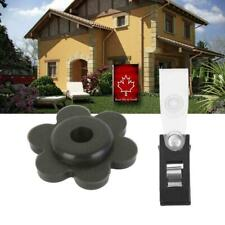 1Set Garden Flag Pole Stand Rubber Stopper Flower Shape Mini Stoppers Rubbe Q2R4
