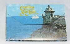 Vintage Postcard Fold Out Book Castles of San Juan Puerto Rico 14 Views