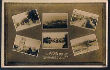 MULTIVIEW POSTCARD GREETINGS FROM LEINTWARDINE 1919 SUTTON TENBURY WELLS