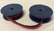 SmCo Olympia Negro y Rojo cinta de máquina de escribir (SG3, SG1, SM9, Splendid 66 Modelos)