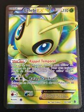 Carte Pokemon CELEBI 141/149 Holo EX Full Art Noir et Blanc Française NEUF