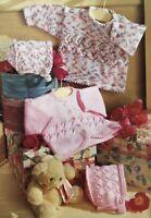 Knitting Pattern Baby Girl Cardigan Sweater Bonnet Birth - 3 Years DK 4 Ply