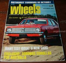 1970.WHEELS.HG Holden Trimatic.Torana XU-I.Mercedes 280.MAZDA RX2.Datsun 1200.VW