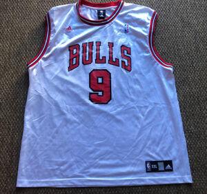 Luol Deng #9 Chicago Bulls Reebok White Basketball Jersey Mens 2XL