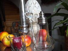 Zuckerstreuer Zuckerspender Glas Messing Silber dosierbar Landhaus Vintage NEU!!