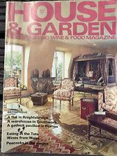 House And Garden September 1981 - Vintage Magazine