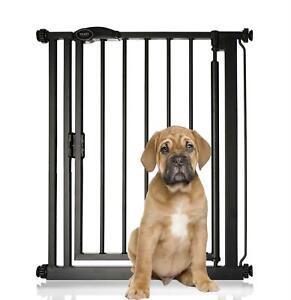 Bettacare Premium Matt Black Narrow Pet Gate, 68.5-75.5cm Self Close Dog Gate