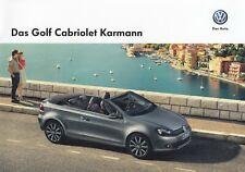 VW GOLF CABRIOLET Cabrio KARMANN Sondermodell Prospekt Brochure 2013 AM