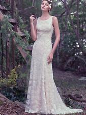 WEDDING DRESS MAGGIE SOTTERO RHODA IN IVORY SIZE UK 12.