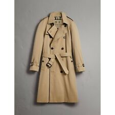 New Burberry The Westminster Extra Long Men's Authentic Trench Honey Coat 44 US