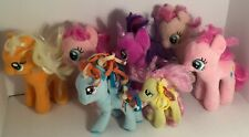 "💛 LOT OF 7 PLUSH STUFFED 6"" AND SMALLER MLP MY LITTLE PONY TY HASBRO TOYS USED"